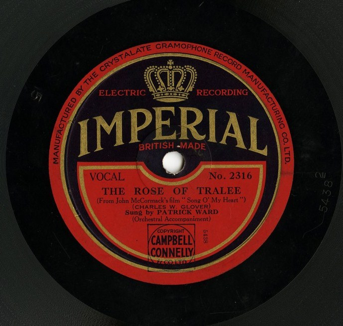 This record featured Ward's version of two songs from John McCormack's film Song O' My Heart (1930)